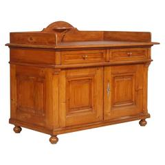 Antique Country Washbasin Cabinet Sideboard in Solid Larch, Rustictyrol Toilette