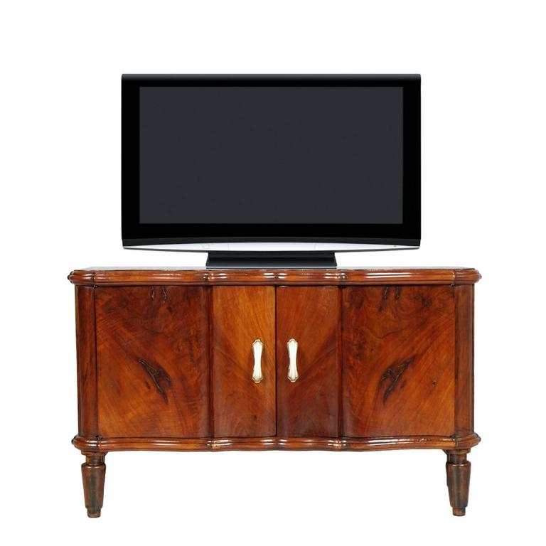 Bedroom Tv Cabinet Design Art Deco Style Bedroom Ideas Bedroom Fireplace Bedroom Design Styles: Console TV Serpentine Cabinet Art Deco In Burl Walnut At