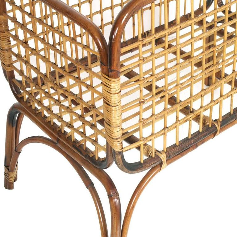 Mid-Century Modern cradle in bamboo and rattam , Ico Parisi / Franca Helg style period, 1950s. Excellent condition Measures cm: H 78 W 102 D 56.