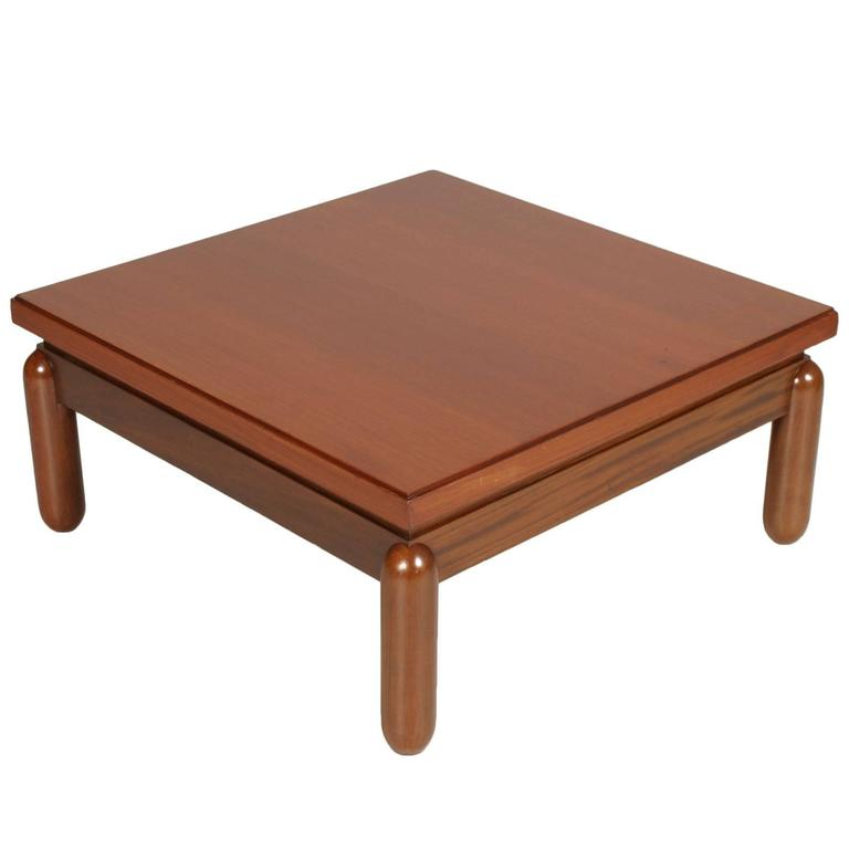 Mid-Century Modern Coffee Centre Table in Afra & Tobia Scarpa Style, 1970s For Sale