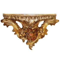 Early 20th Century Ceramic Italian Baroque Wall Console from Villa Venetian