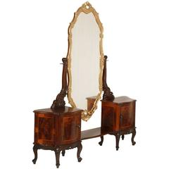 1930s Venetian Baroque Console Vanity Attributable to Testolini-Salviati Jesurum