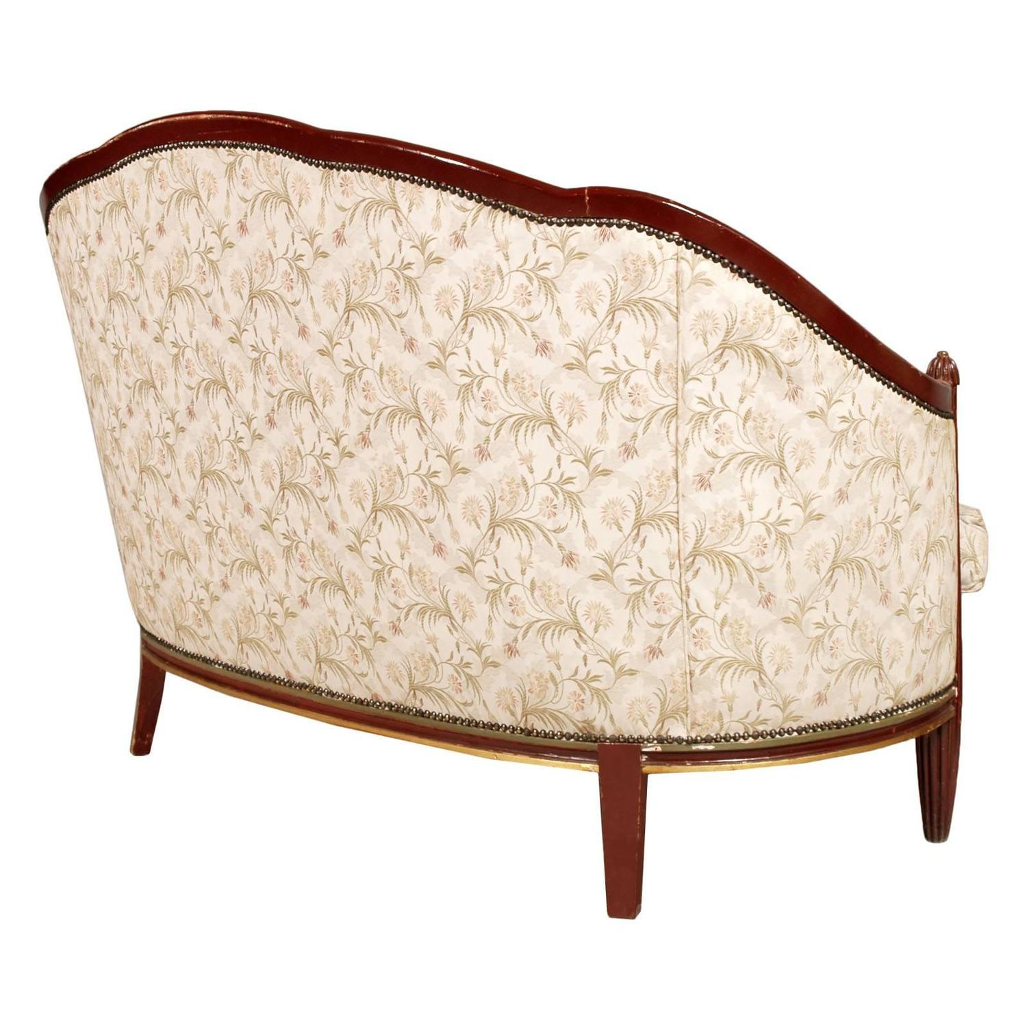 Fine Loveseat Sofa Art Nouveau Belle Epoque Lacquered And Gilded Carved Mahogany Alphanode Cool Chair Designs And Ideas Alphanodeonline