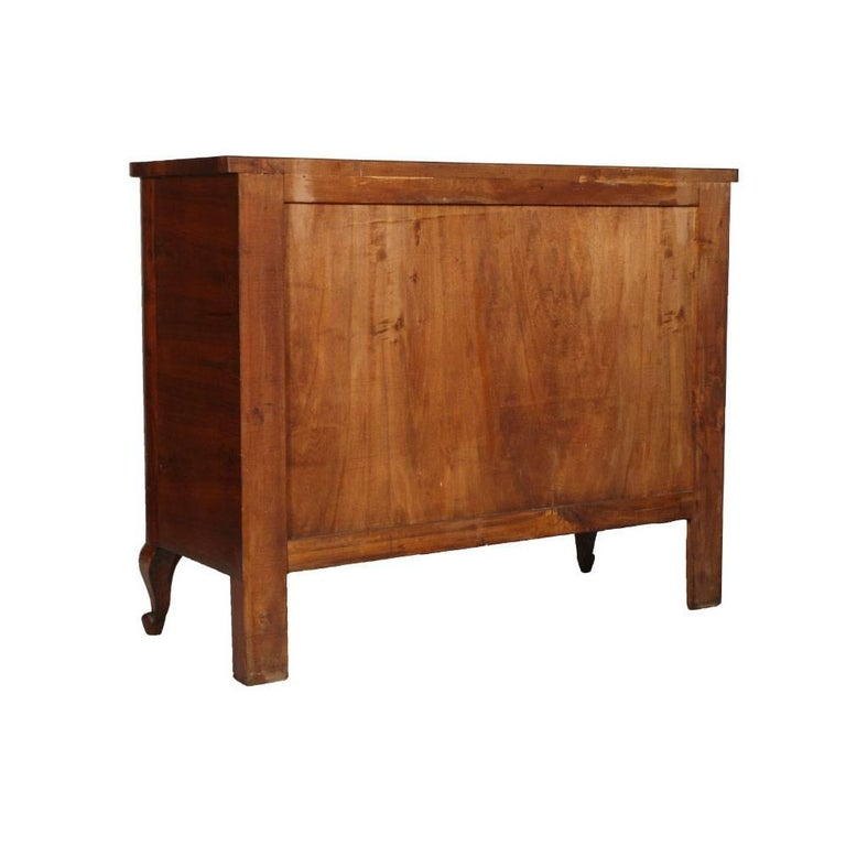 Early 20th Century Art Deco Dresser and Nightstands, Walnut and Burl Walnut by Gaetano Borsani For Sale