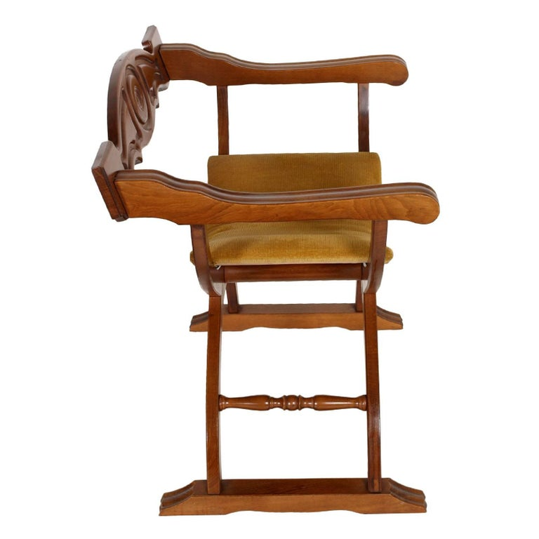 Mid century modern italian savonarola chair in walnut polished to wax for sale at 1stdibs - Savonarola sedia ...