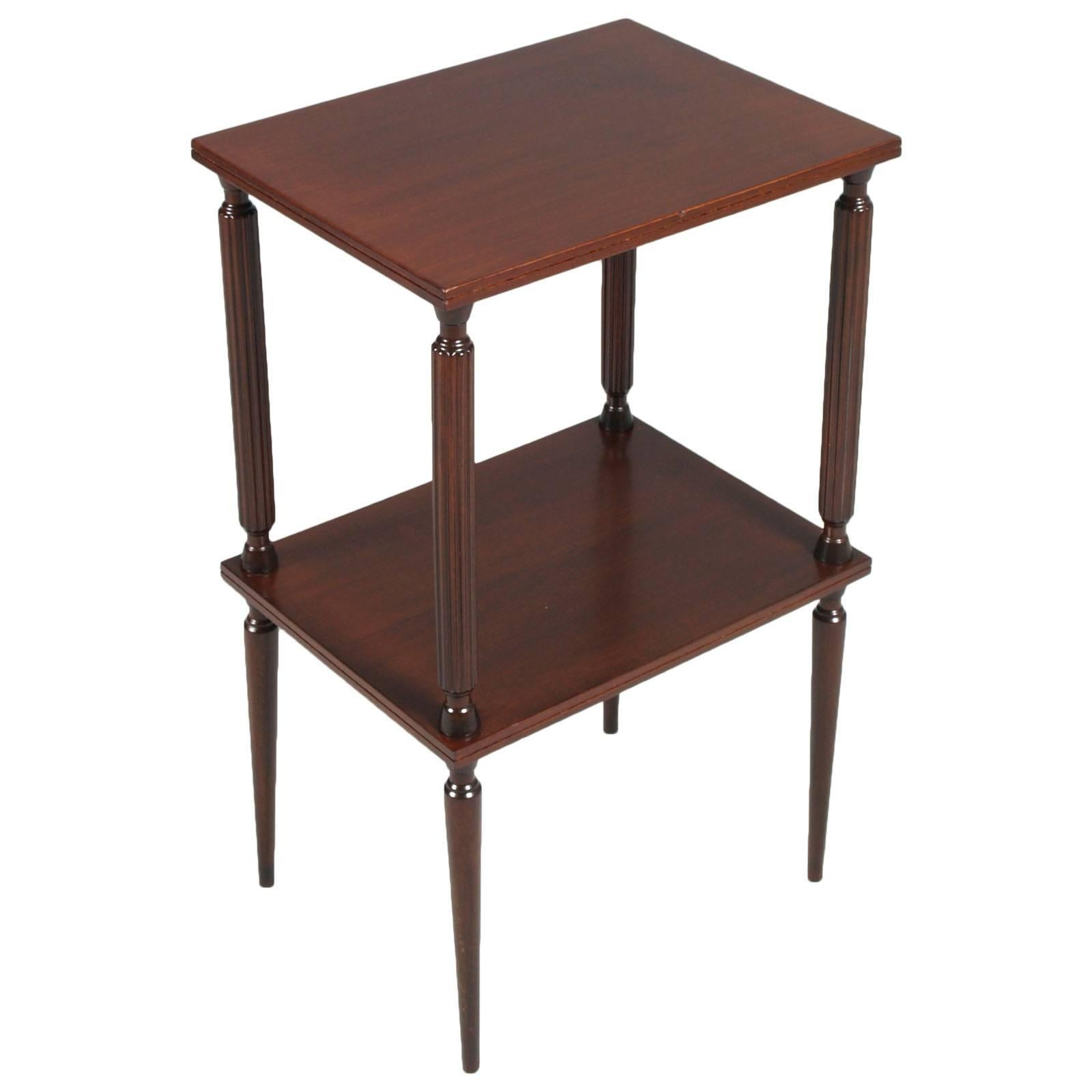 Mid Century Modern Mahogany Side Table, Console, Neoclassical Style