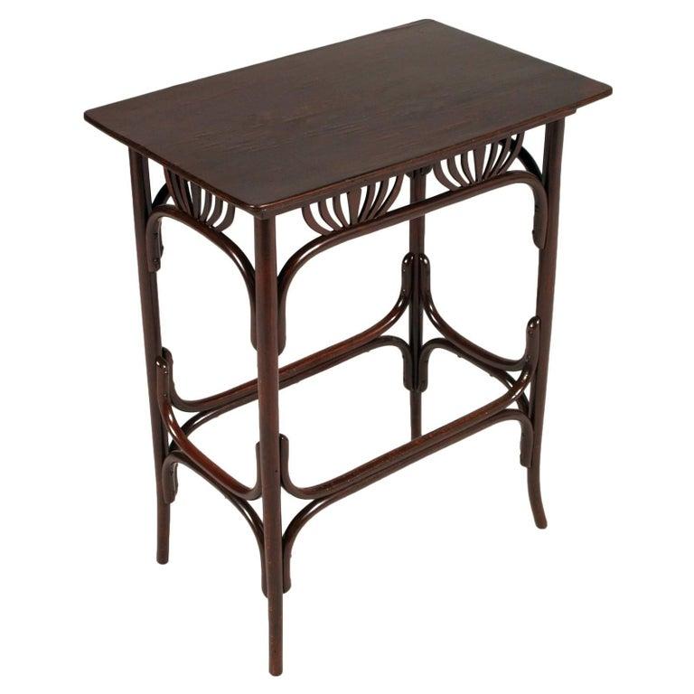 1910s Original Side Table Art Nouveau by Thonet, Fishel
