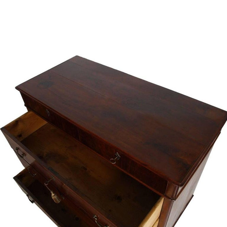 Inlay Late 18th Century, Baroque Italian Commode Chest of Drawers, Walnut, with Inlaid For Sale