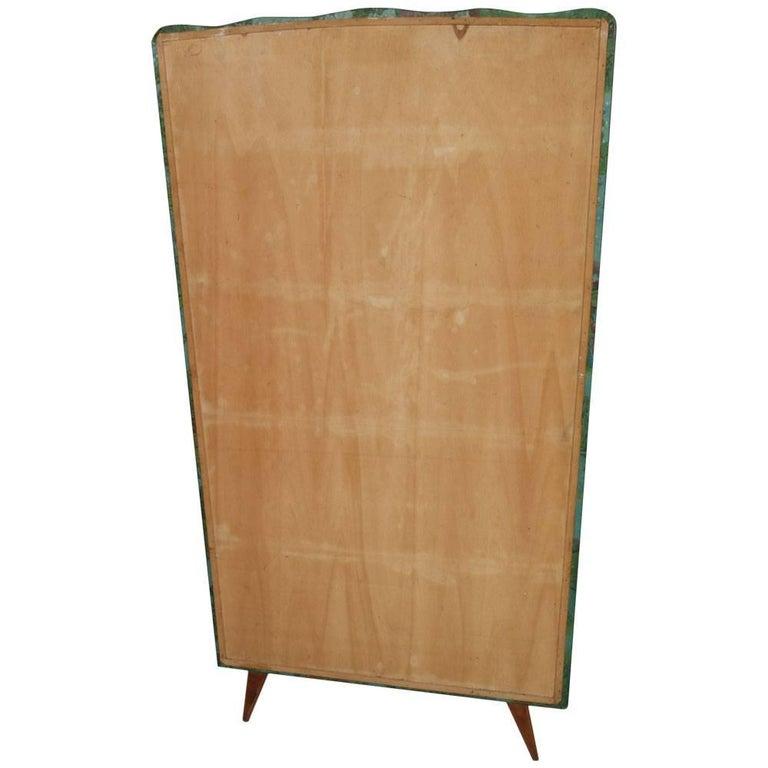 20th Century Mid Modern Coat Rack Hanger Vinyl Upholstery Bucolic Ico Parisi Style For
