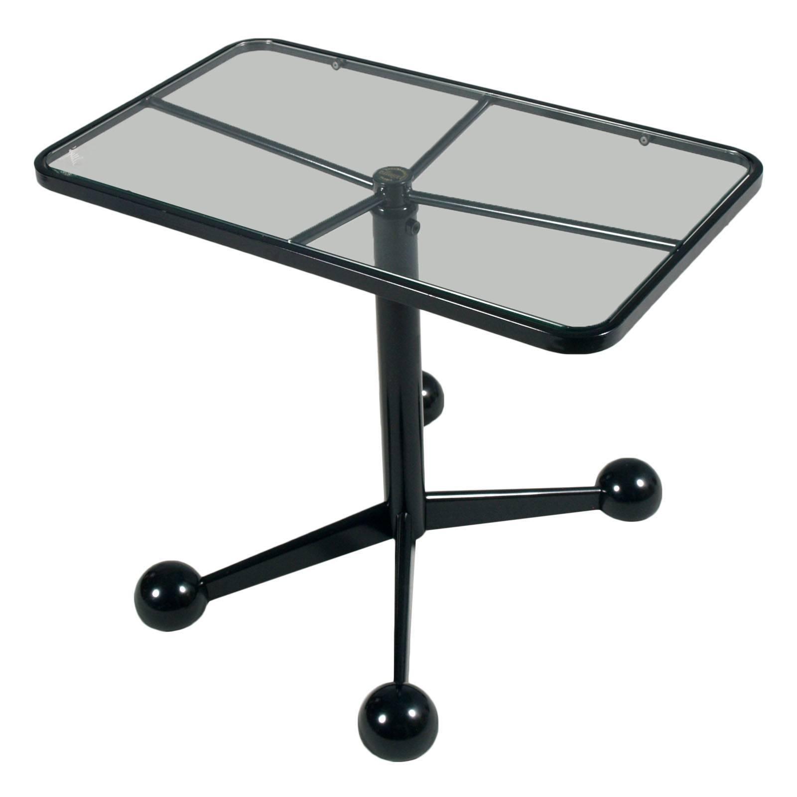 Modern Bar Cart or Side Coffee Rolling Table Adjustable Height Design Allegri