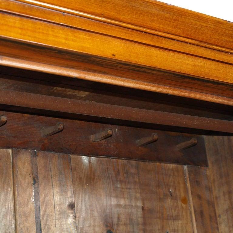 Austrian 19th Century Biedermeier Cupboard Wardrobe in Birch Restored Polished to Wax For Sale