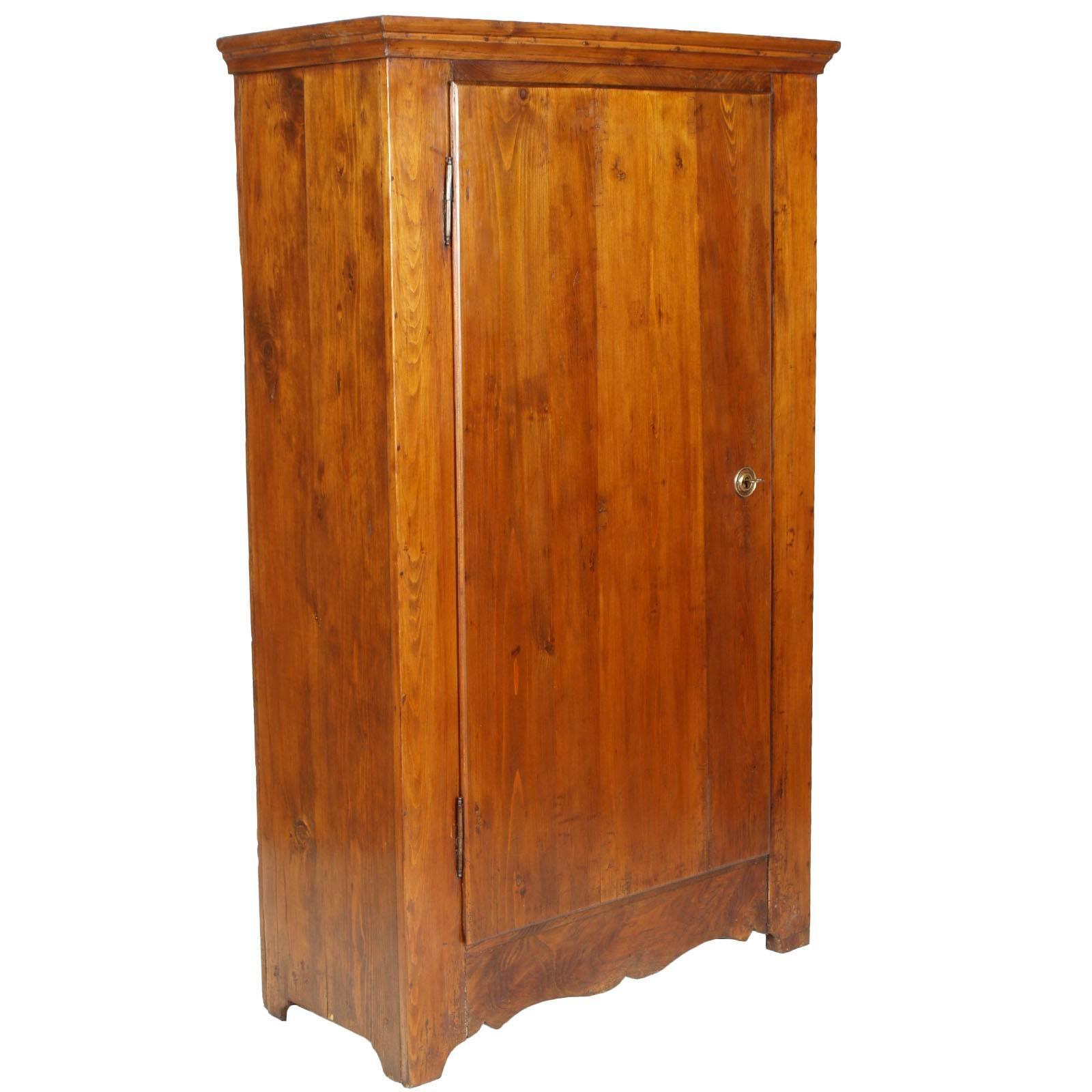 Period Biedermeier Antique Elegant Cupboard Wardrobe Solid Fir Polished to Wax