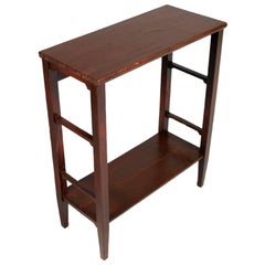 Art Nouveau Country Rustic Side Table, Console, Pine Restored Finished to Wax