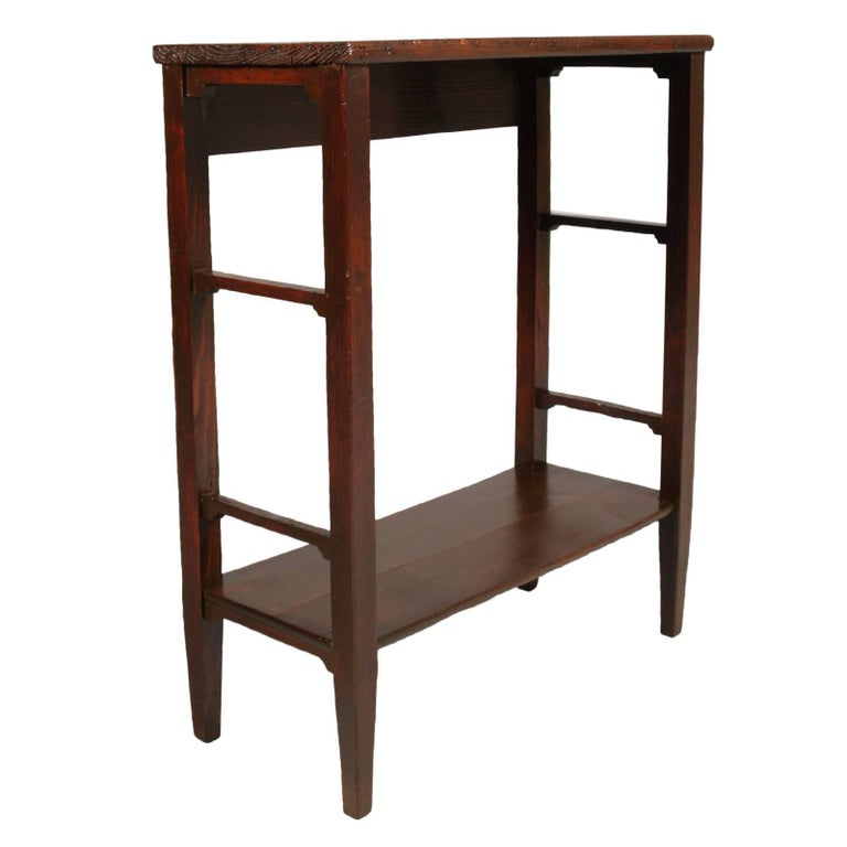 art nouveau country rustic side table console pine restored finished to wax for sale at 1stdibs. Black Bedroom Furniture Sets. Home Design Ideas