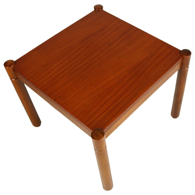 Mid-Century Modern coffee table, Afra e Tobia Scarpa style, polished to wax  Measures cm: H 43, W 54, D 54.