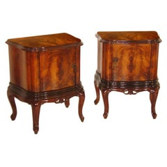 Early 20th Century Pair of Venetian Baroque Naightstands