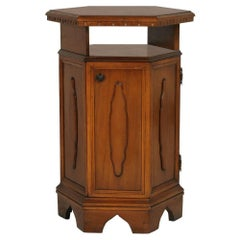Midcentury Tuscany Renaissance Cabinet, Bedside Table, Walnut Polished to Wax