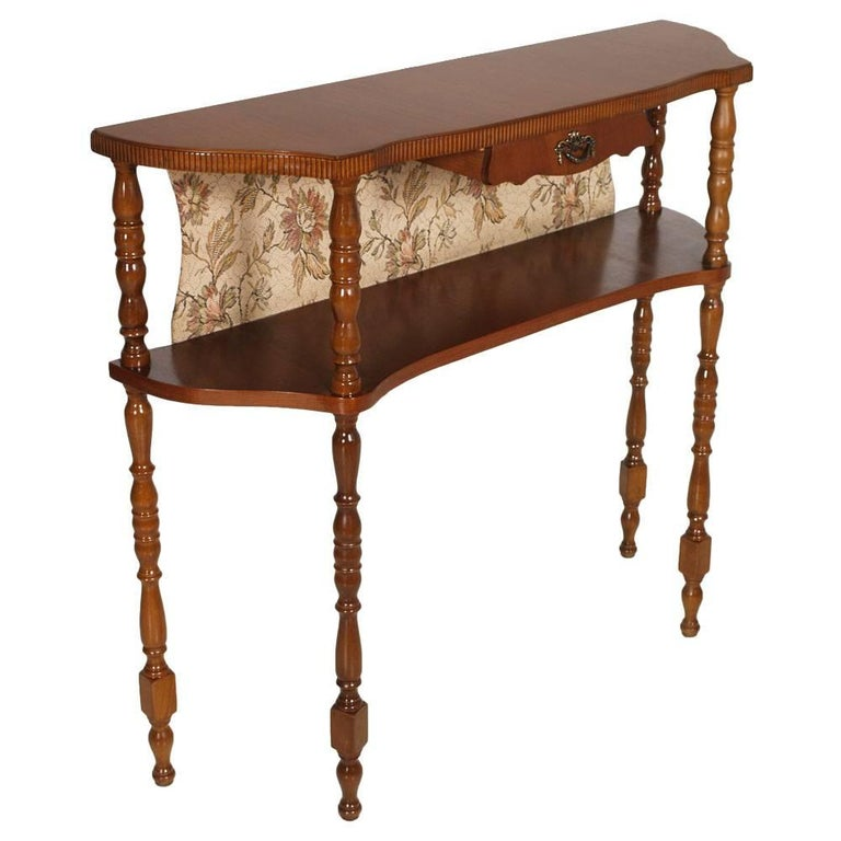 Mid-Century Modern, Period Art Deco, Console in Blond Walnut Polished to Wax For Sale