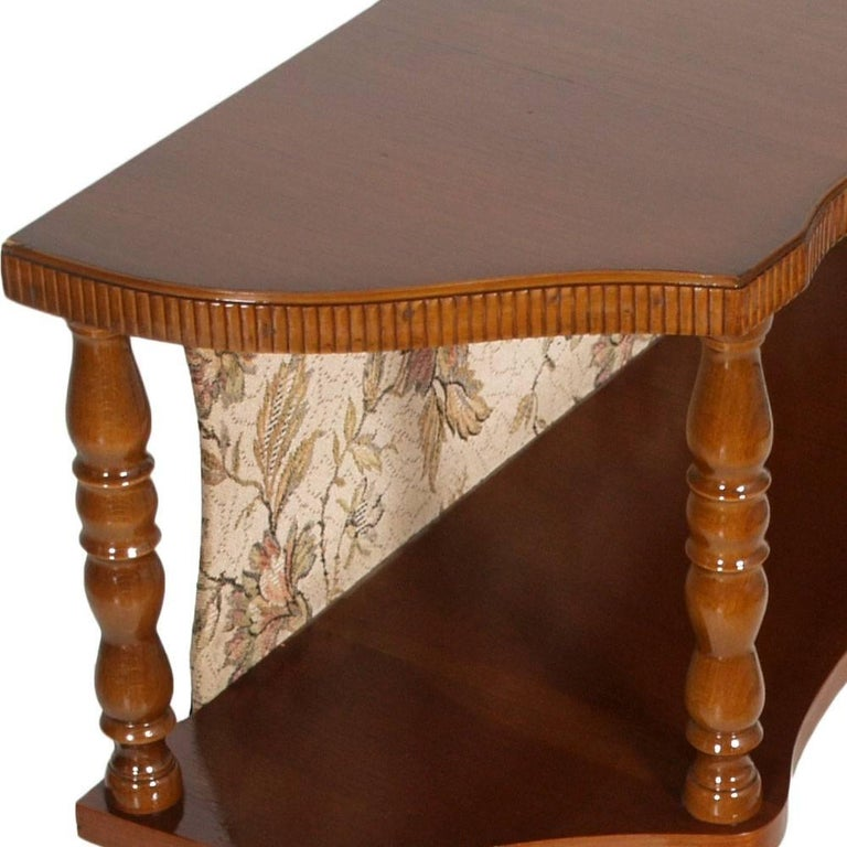 Renaissance Mid-Century Modern, Period Art Deco, Console in Blond Walnut Polished to Wax For Sale