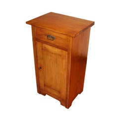 Late 19th Century Venetian Country Rustic Nightstand, Restored Polished to Wax
