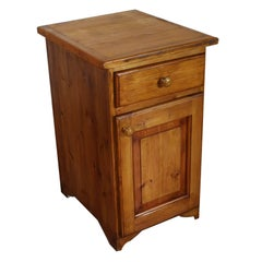 Late 19th Century Austrian Country Rustic Cabinet Nightstand, Larch, Restored