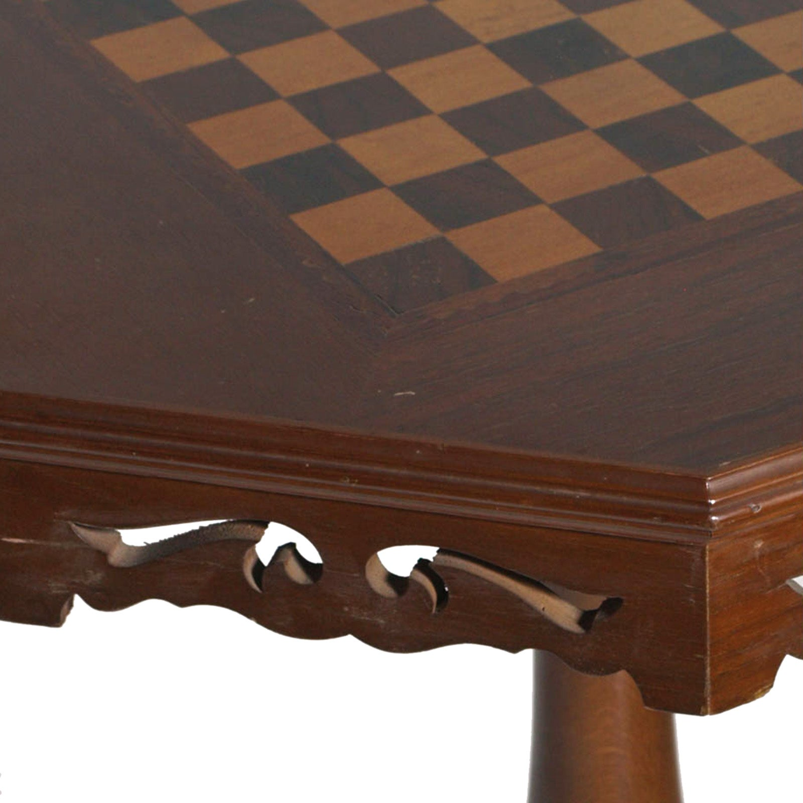 Mid 20th Century Neoclassical Small Game Table Chess In Walnut, Polished To  Wax For Sale At 1stdibs