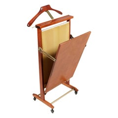 "Italian ""Servomuto"" Valet Trouser Press by Fratelli Reguitti in Walnut"