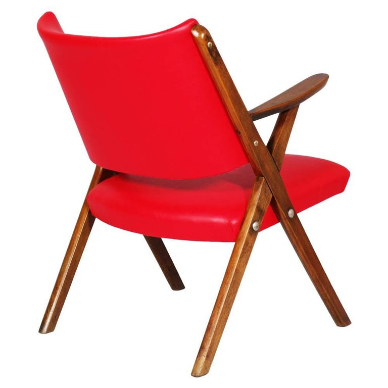 Italian Mid-Century Modern Italy Dal Vera Easy Chair For Sale