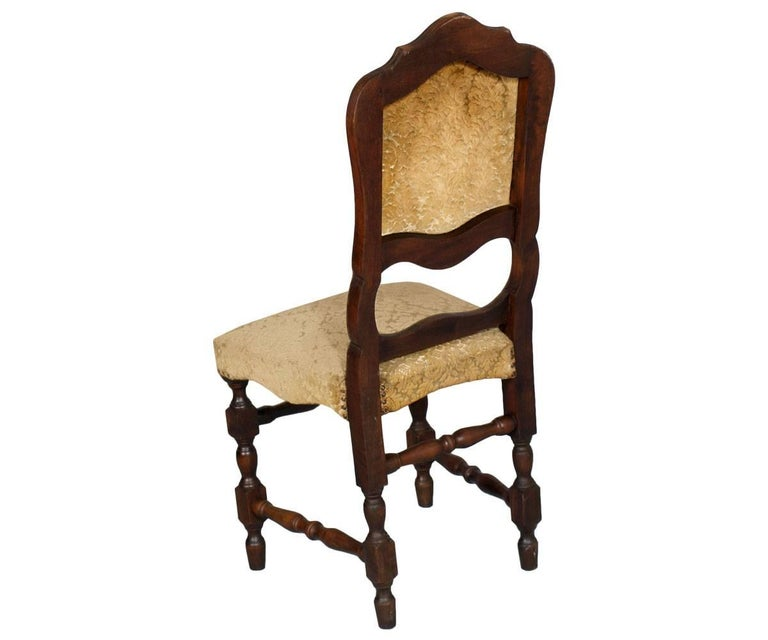 Carved Set of Six 20th Century Italian Baroque Dining Chairs For Sale