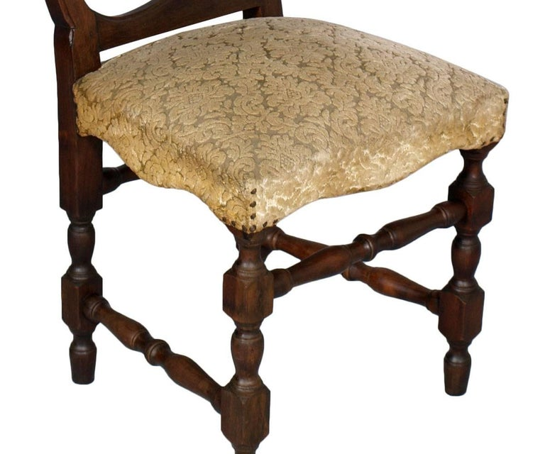 Baroque Revival Set of Six 20th Century Italian Baroque Dining Chairs For Sale