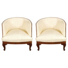 Belle Époque Venetian Lounge Chairs Testolini & Salviati Attributed Restored