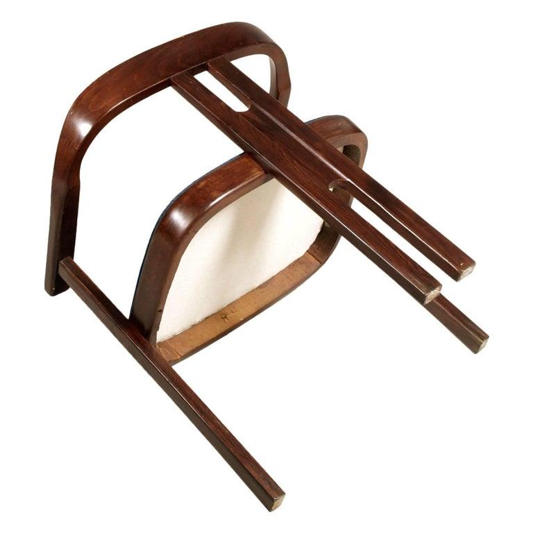 Italian Midcentury Walnut Armchair, Afra and Tobia Scarpa Style