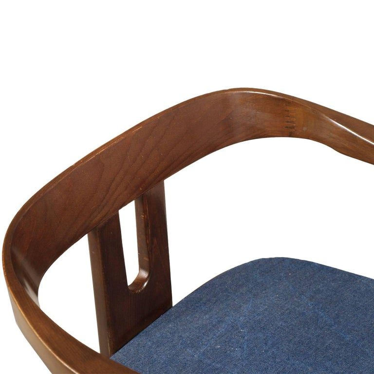 Midcentury Walnut Armchair, Afra and Tobia Scarpa Style