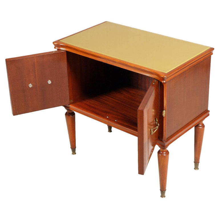 European Midcentury Nightstands from Cantù , Gio Ponti Style in Walnut and Veneer Walnut  For Sale