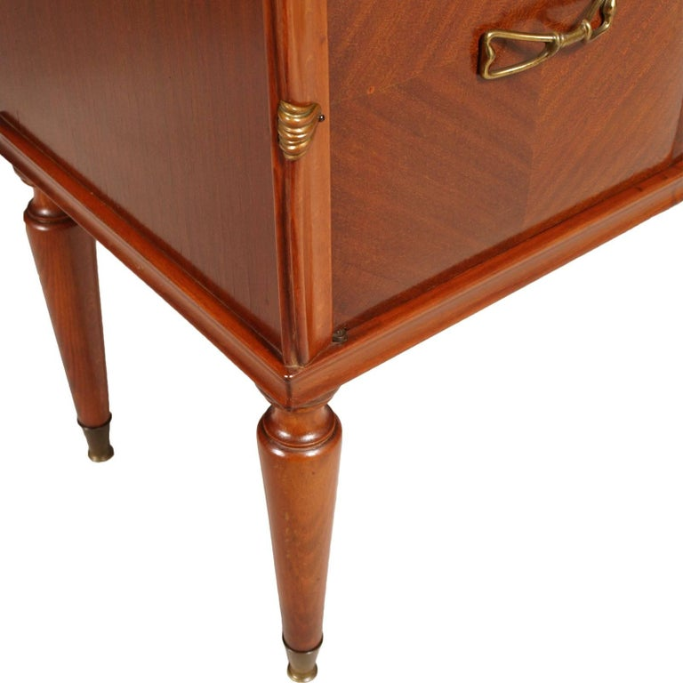 Midcentury Nightstands from Cantù , Gio Ponti Style in Walnut and Veneer Walnut  For Sale 1