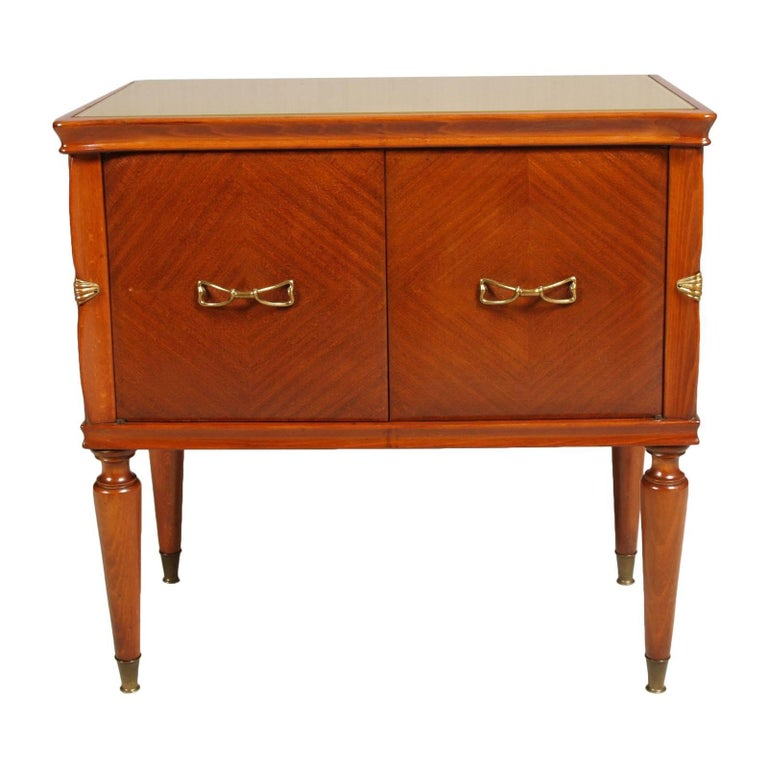 Mid-Century Modern Midcentury Nightstands from Cantù , Gio Ponti Style in Walnut and Veneer Walnut  For Sale