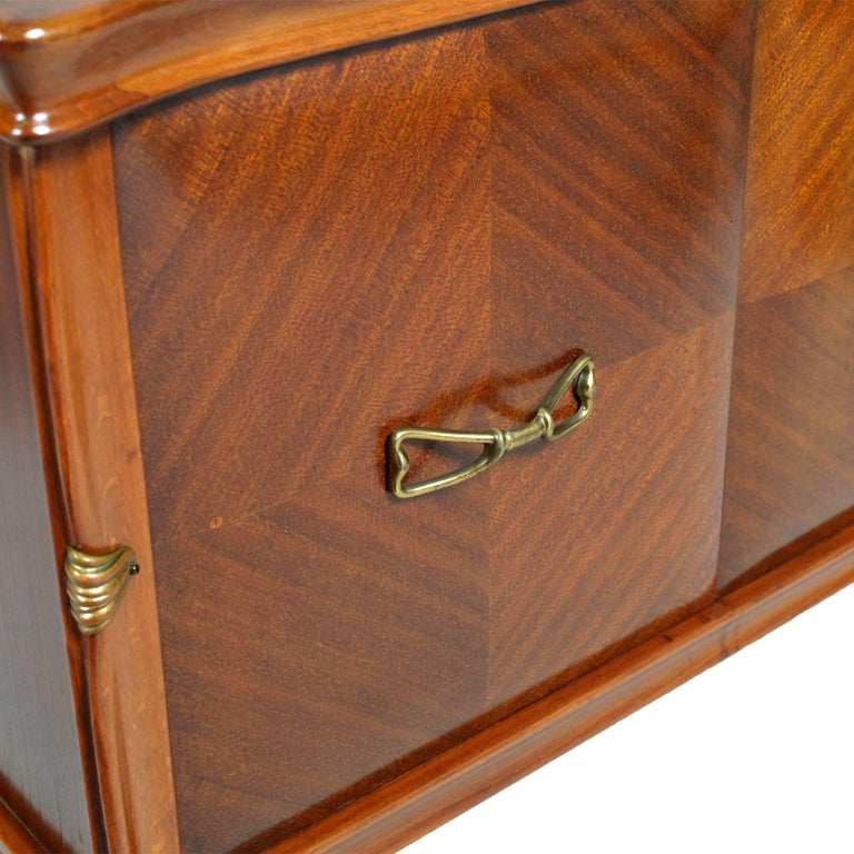 20th Century Midcentury Nightstands from Cantù , Gio Ponti Style in Walnut and Veneer Walnut  For Sale