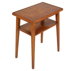 Midcentury Side or Coffee Table in Cherrywood Restored and Polished to Wax, 1935