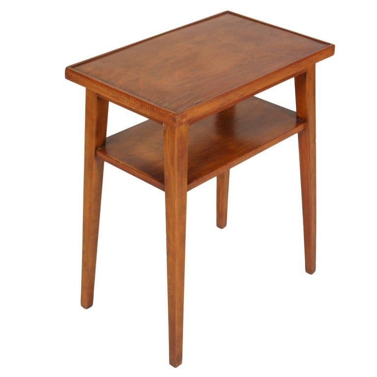 Midcentury Side Or Coffee Table In Cherrywood Red And Polished To Wax 1935 For