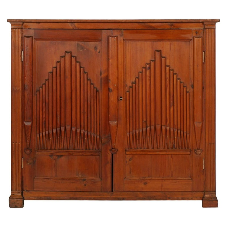 Early 19th Century Credenza Sideboard of Church, Larch, Restored Polished to Wax