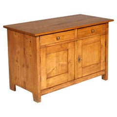 Antique country Tyrol Little Cabinet Credenza Arte Povera in Pine, Wax Polished