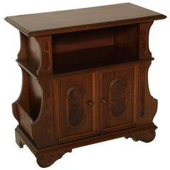 Midcentury, Renaissance Console, Entrance Cabinet in Walnut and Walnut Veneer