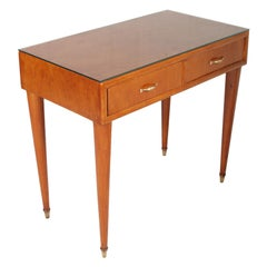 1950s by Cantù Two Drowers Desk Writing Tables or Vanity Gio Ponti Attributed