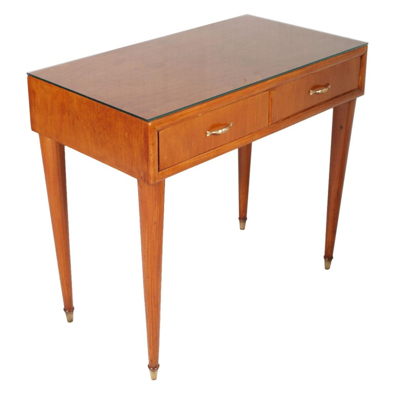 1950s by Cantù Two Drowers Desk Writing Tables or Vanity Gio Ponti Attributed For Sale