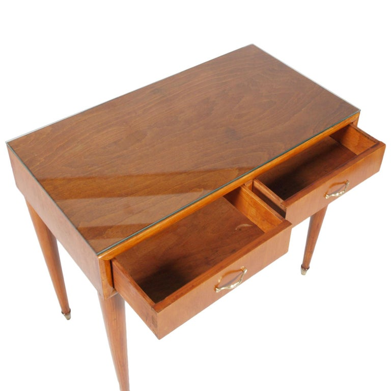 Mid-Century Modern 1950s by Cantù Two Drowers Desk Writing Tables or Vanity Gio Ponti Attributed For Sale
