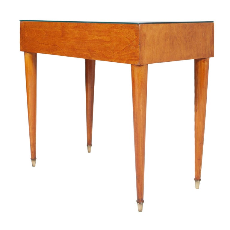 Brass 1950s by Cantù Two Drowers Desk Writing Tables or Vanity Gio Ponti Attributed For Sale