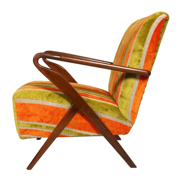 Italian Midcentury Carlo de Carli Designer Attributed Restored Setof Armchairs and Sofà For Sale