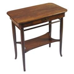 1900s Side Table Jacob & Josef Kohn, Wien, Joseph Hoffman Designer, Solid Walnut