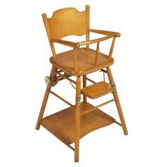 Mid-Century Modern Italian Childs Chair circa 1950s Beechwood, Polished to Oil