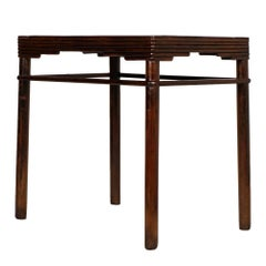 1930s Italian Art Deco Table in Solid Walnut by Meroni & Fossati Lissone Milan
